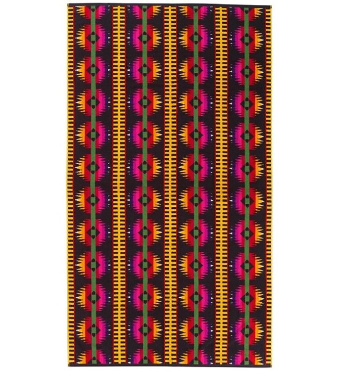 Fire on the Mountain Spa Towel in Black by Pendleton