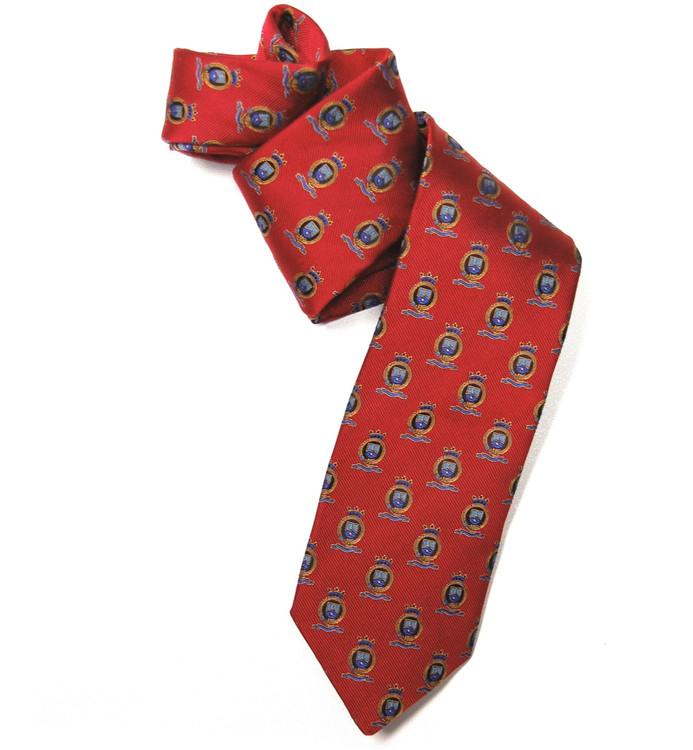 Red Crest 'English Club' Woven Silk Tie by Robert Talbott