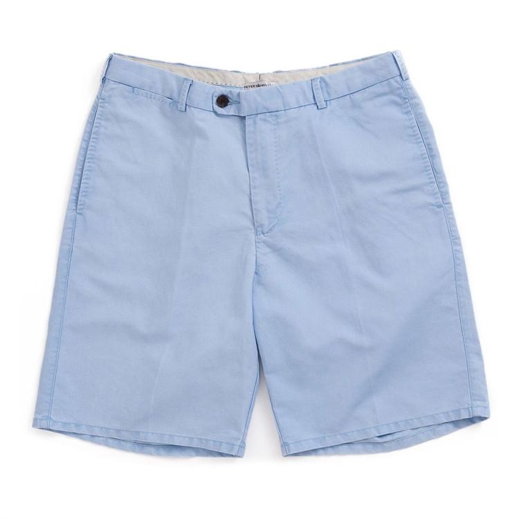Linen Cotton Short in Tarheel Blue (Size 34) by Peter Millar