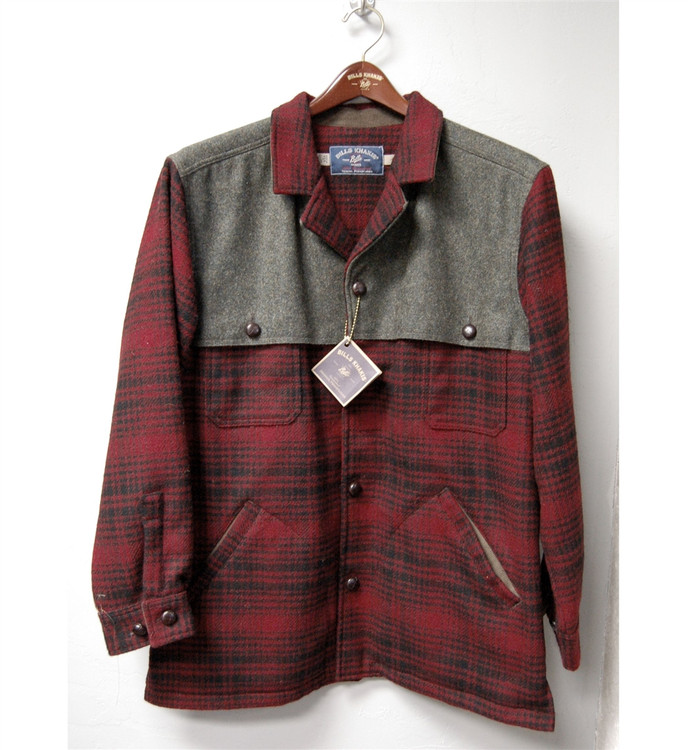 Wool and Wax Cotton Wagoneer Jacket in Red Plaid by Bills Khakis