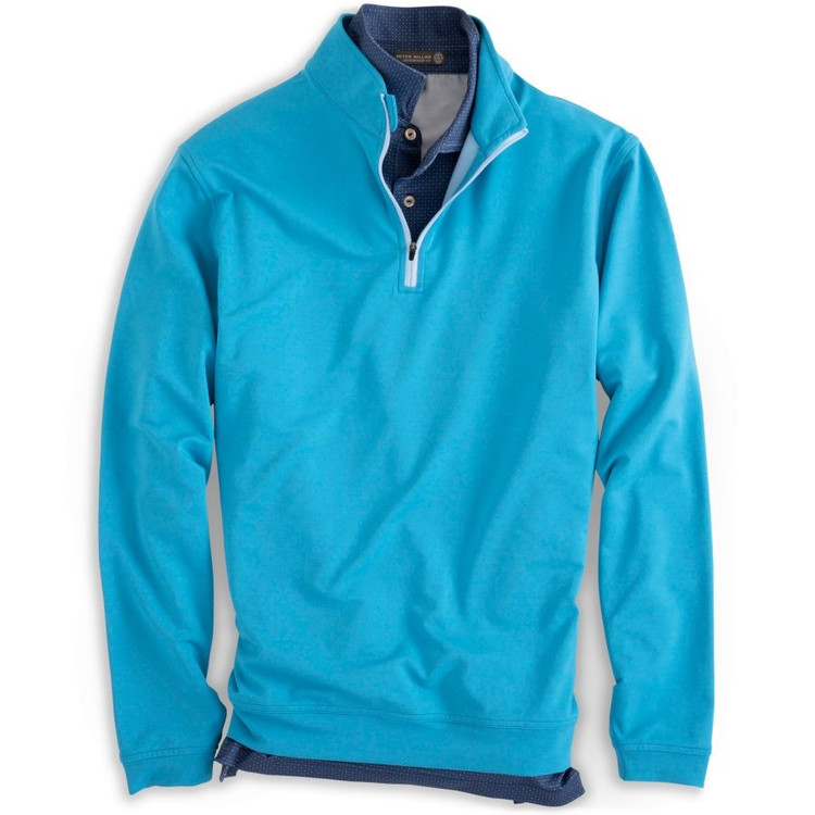 'Perth' E4 Melange Performance Pullover in Indian Blue (Size Large) by Peter Millar