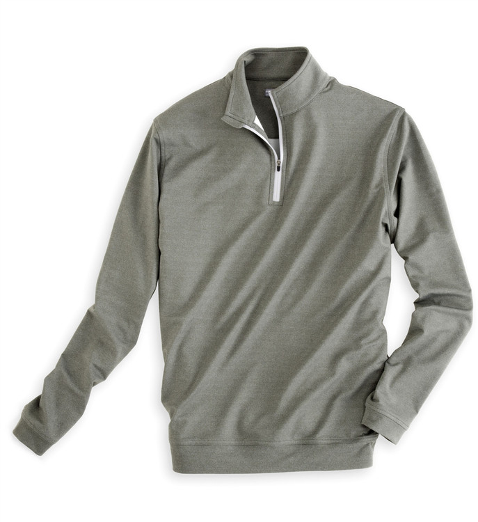 'Perth' E4 Melange Performance Pullover in Smoke (Size Large) by Peter Millar