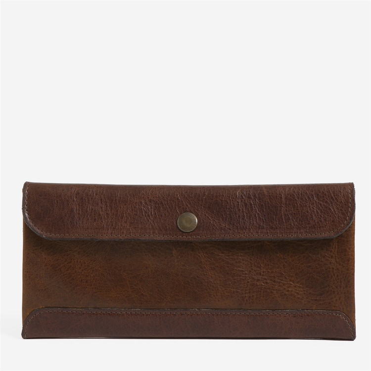 Smith Journeyman Travel Envelope in Titan Milled Honey by Moore & Giles