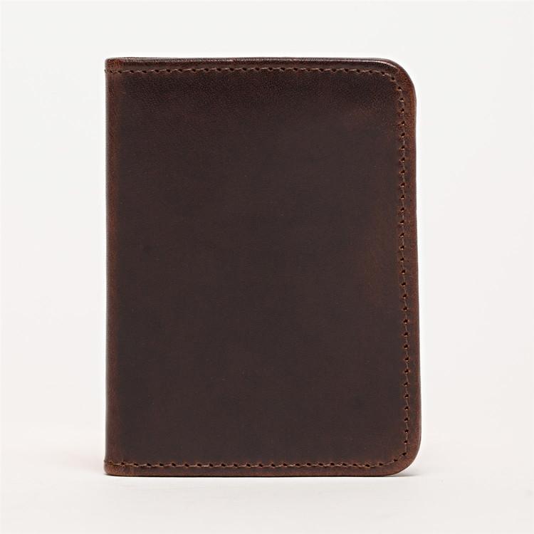 Card Wallet in Brompton Brown by Moore & Giles