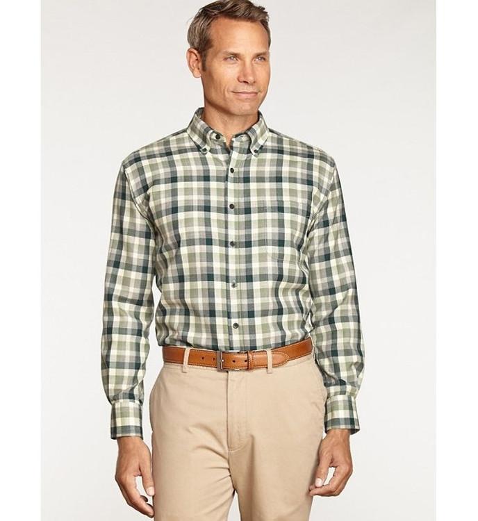Green Check Sir Pendleton Wool Shirt by Pendleton