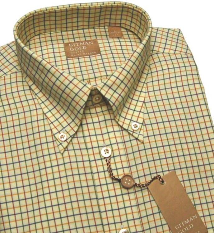 'Gitman Gold' Multi Check Sport Shirt by Gitman Brothers