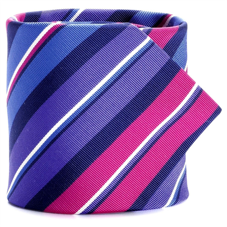 Capri Mogador Bar Stripe Tie in Newport Blue by Peter Millar