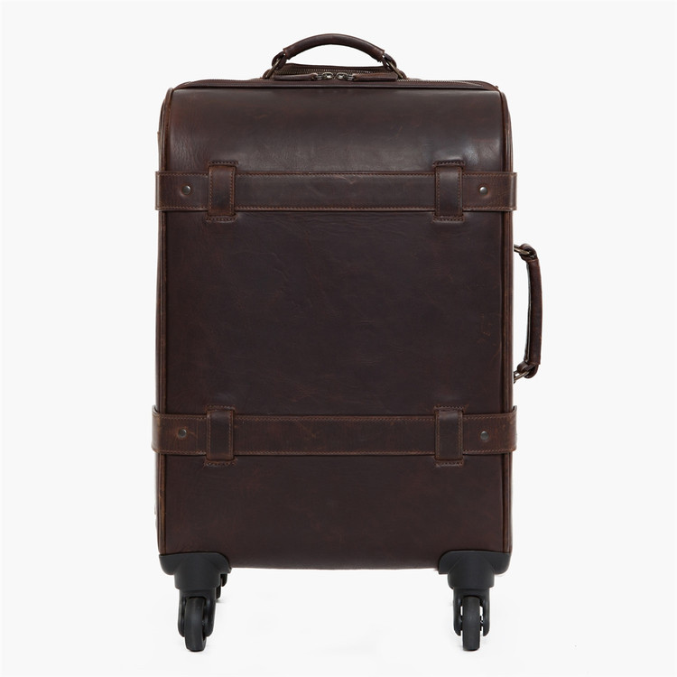 Parker Rolling Carry-On Suitcase in Baldwin Oak by Moore & Giles