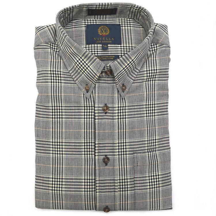 Navy Glen Plaid Button-Down Shirt (Size XX-Large Tall) by Viyella
