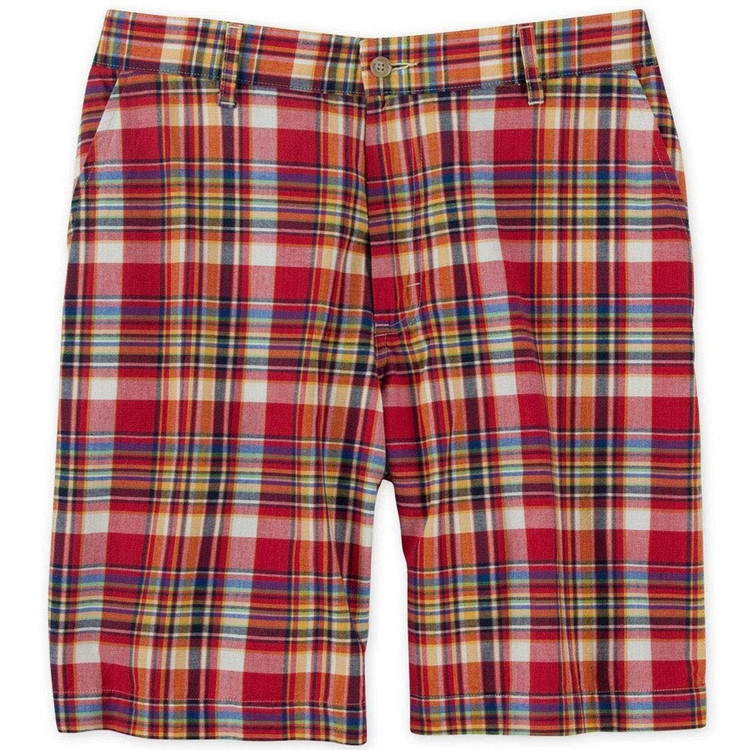 Ivy Madras Parker Short in Red (Size 38) by Bills Khakis