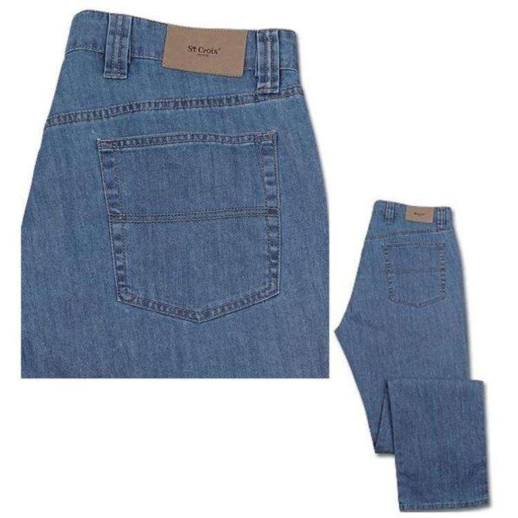 Lightweight Premium Denim Jean with Stretch in Light Wash (Size 34) by St. Croix