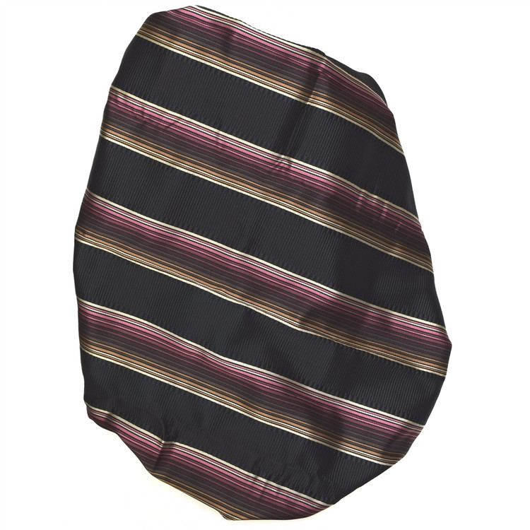 Custom Made Black, Brown, and Raspberry Stripe Seven Fold Tie by Robert Talbott
