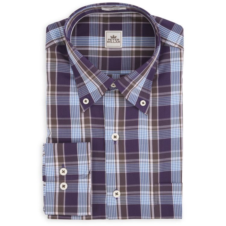 Autumn Plaid Sport Shirt in Snapdragon by Peter Millar