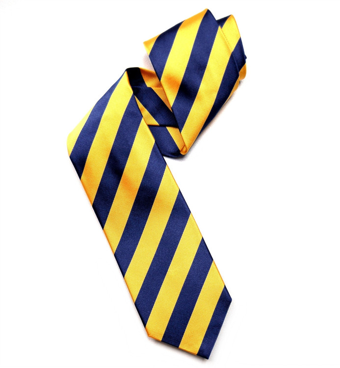 Deep Royal and Gold Silk Faille Repp Tie by Robert Jensen