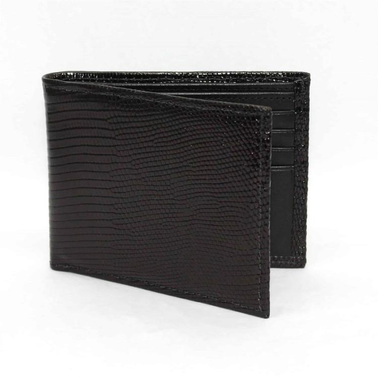 Genuine Lizard Billfold Wallet in Black by Torino Leather Co.