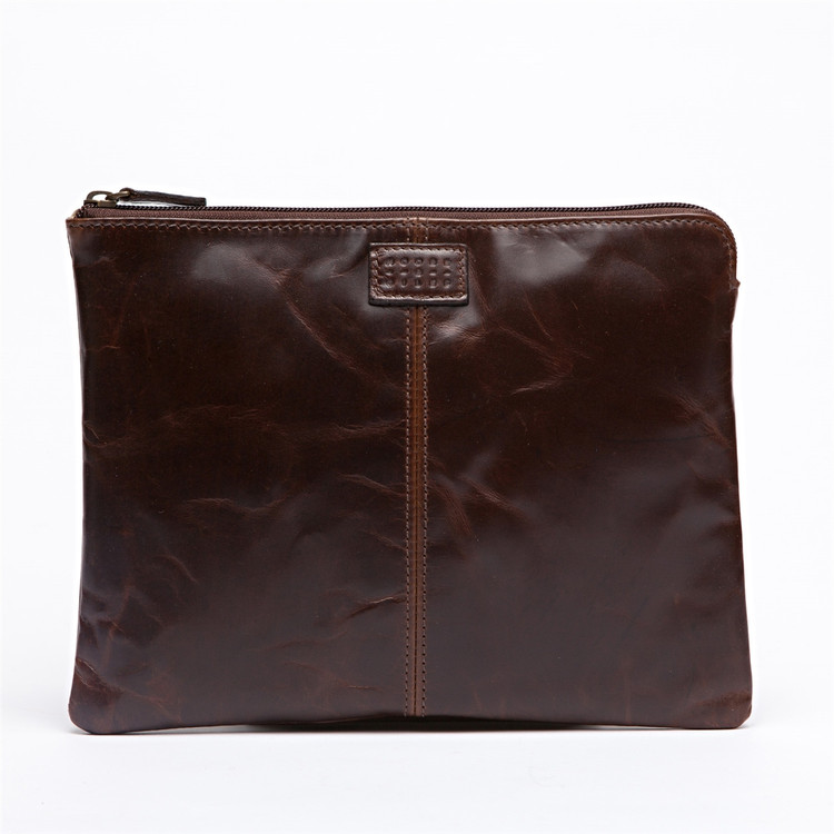Tablet Pocket in Brompton Brown by Moore & Giles