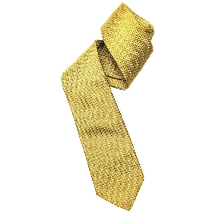 Gold Grenadine Woven Silk Tie by Robert Jensen