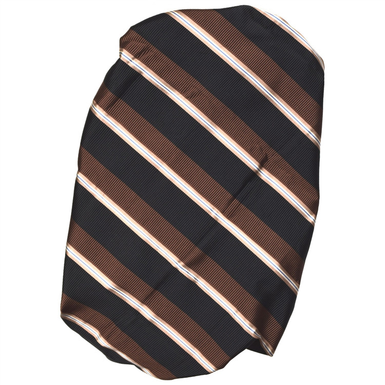 Custom Made Black and Brown Stripe Seven Fold Tie by Robert Talbott