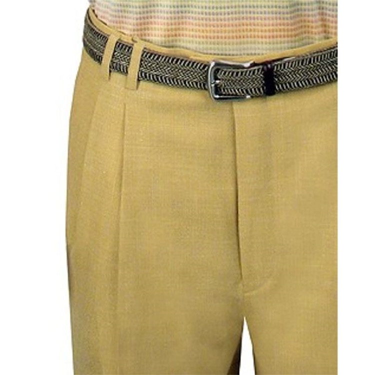 High Performance Linen Blend Trouser in Ginger (Sizes 35, 36, 50) by St. Croix