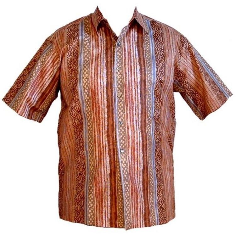 'Mayan Stripes' Resort Shirt (Size Medium) by Tori Richard