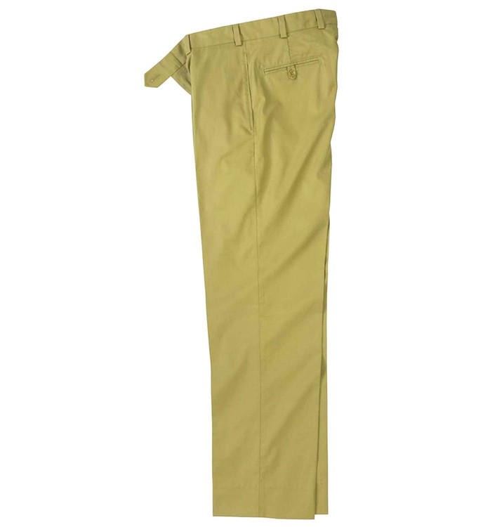 Cotton Gabardine Pant - Model M2 Standard Fit Plain Front in Barley by Bills Khakis
