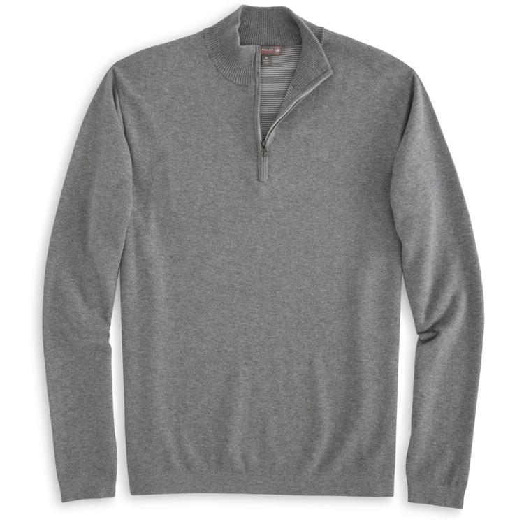 Salisbury Quarter-Zip 'Crown Sport' Performance Sweater in Smoke by Peter Millar