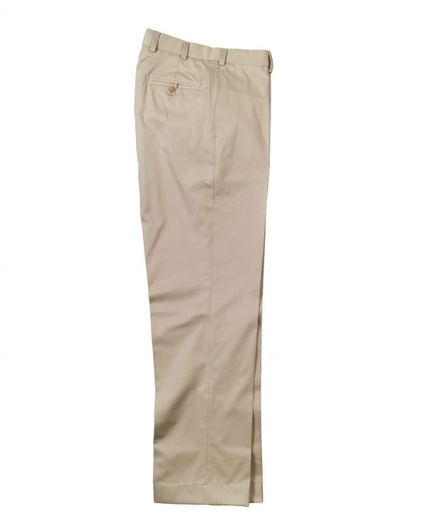 Cotton Gabardine Pant - Model M2 Standard Fit Plain Front in Khaki by Bills Khakis