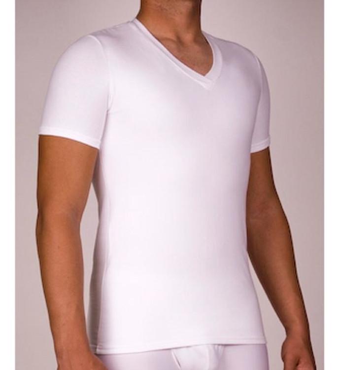 Pro-Slim Cotton Concealer Compression V-Neck T-Shirt (Size XXX-Large) by Hansen's Direct
