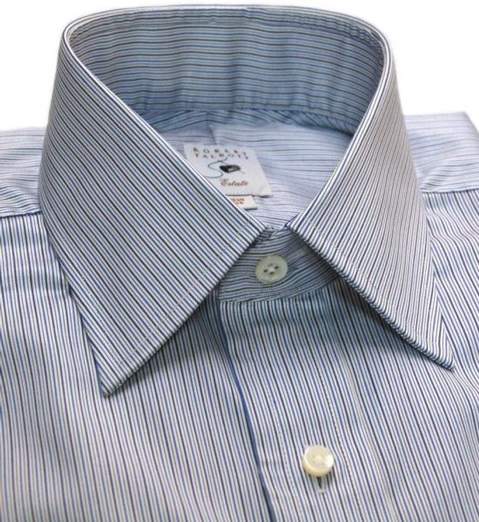 Blue Multi Stripe Estate Dress Shirt by Robert Talbott