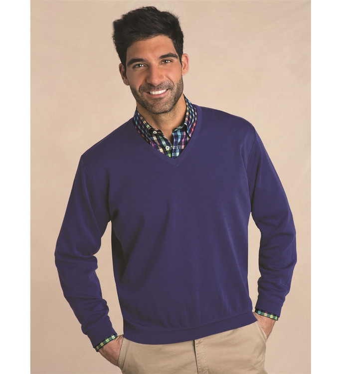 Classic Wool V-Neck Sweater in Amethyst by St. Croix