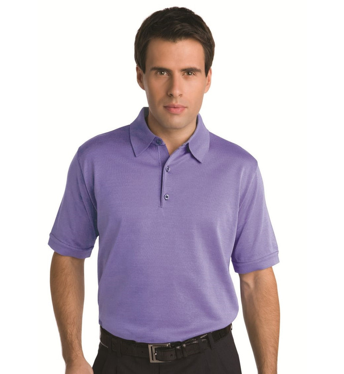 Techno-Cotton Light Weight Short Sleeve Polo in Dahlia by St. Croix