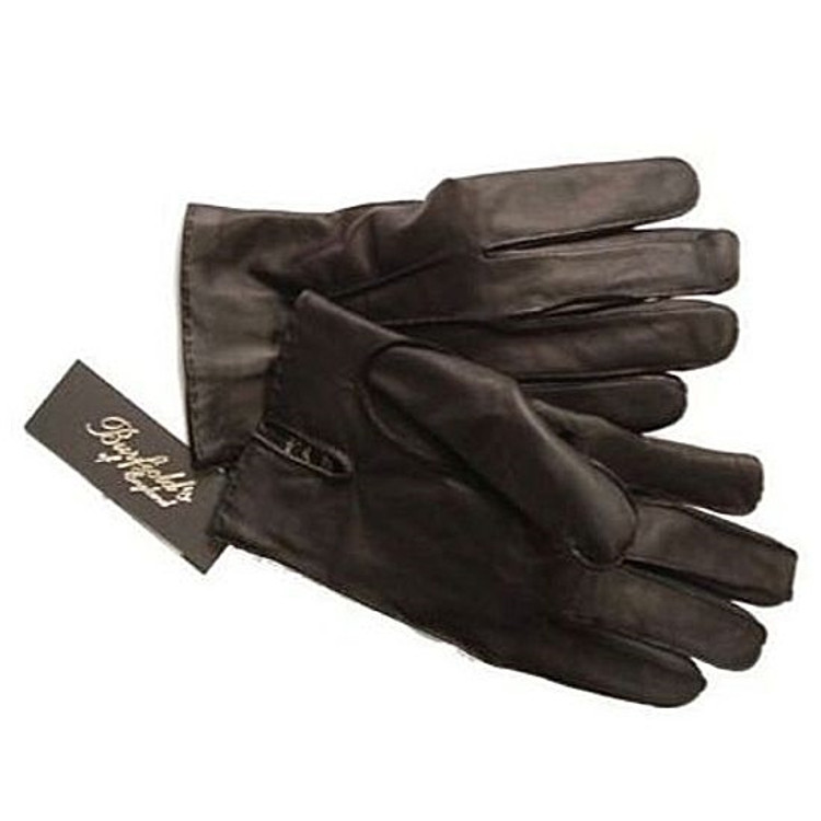 Abyssinian Cabretta Lambskin Glove in Black by Burfield