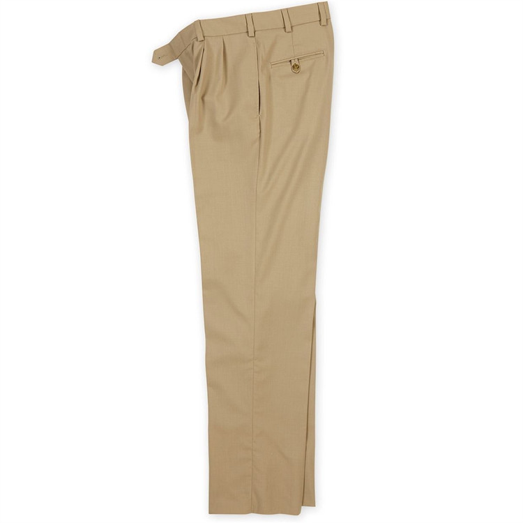 Wool Gabardine Pants in Khaki (Model M2P) by Bills Khakis
