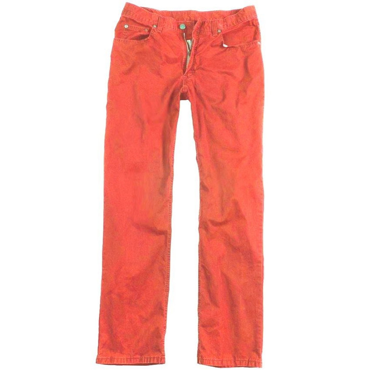 Bleeker Twill 5-Pocket Jeans in Poppy by Bills Khakis