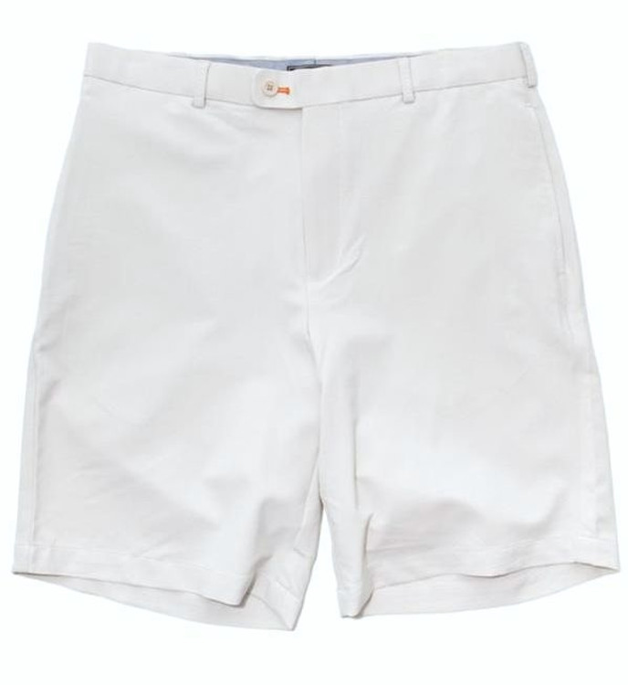 Winston Element 4 Stretch Performance Flat Front Short in White (Size 36) by Peter Millar