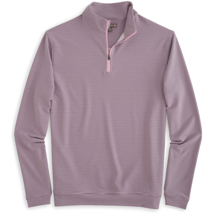 'Perth' Sugar Stripe 'Crown Sport' Performance Pullover in Bermuda Pink by Peter Millar
