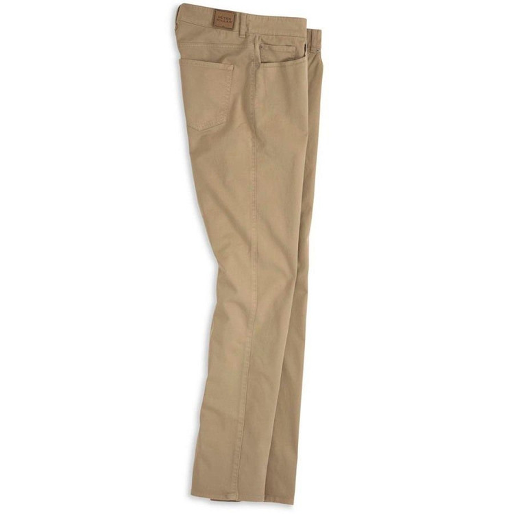 Sateen Stretch 5-Pocket Pant in Khaki by Peter Millar