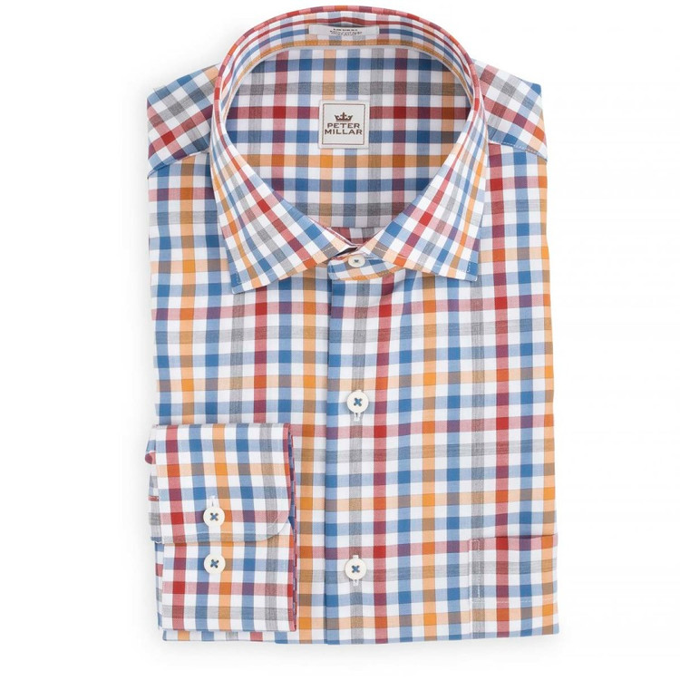 Chateaux Mélange Check Sport Shirt in Harvest by Peter Millar