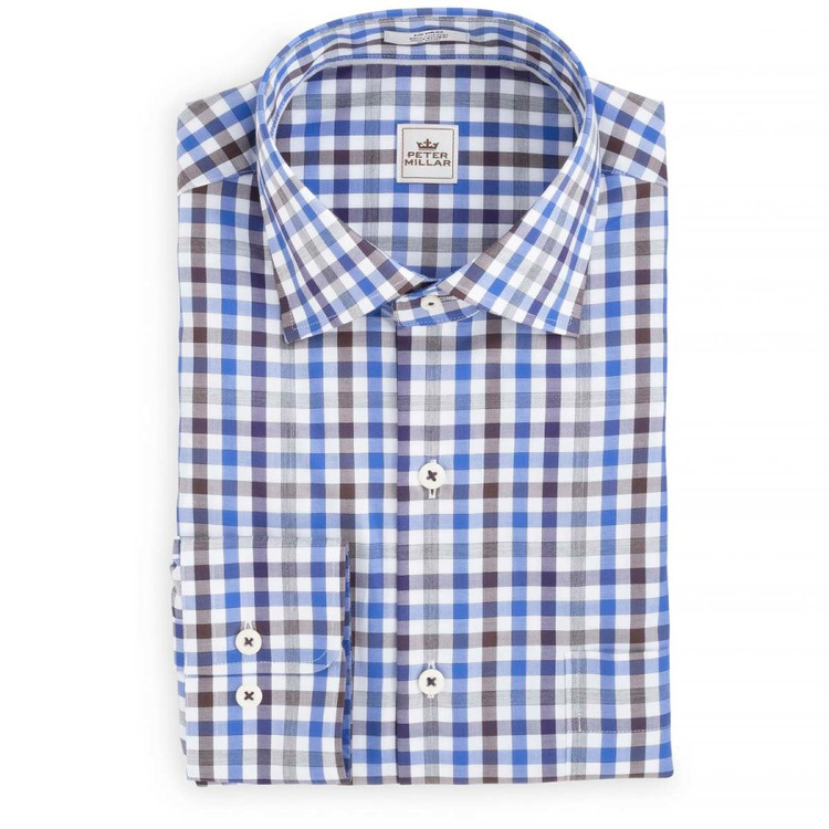 Chateaux Mélange Check Sport Shirt in Snapdragon by Peter Millar