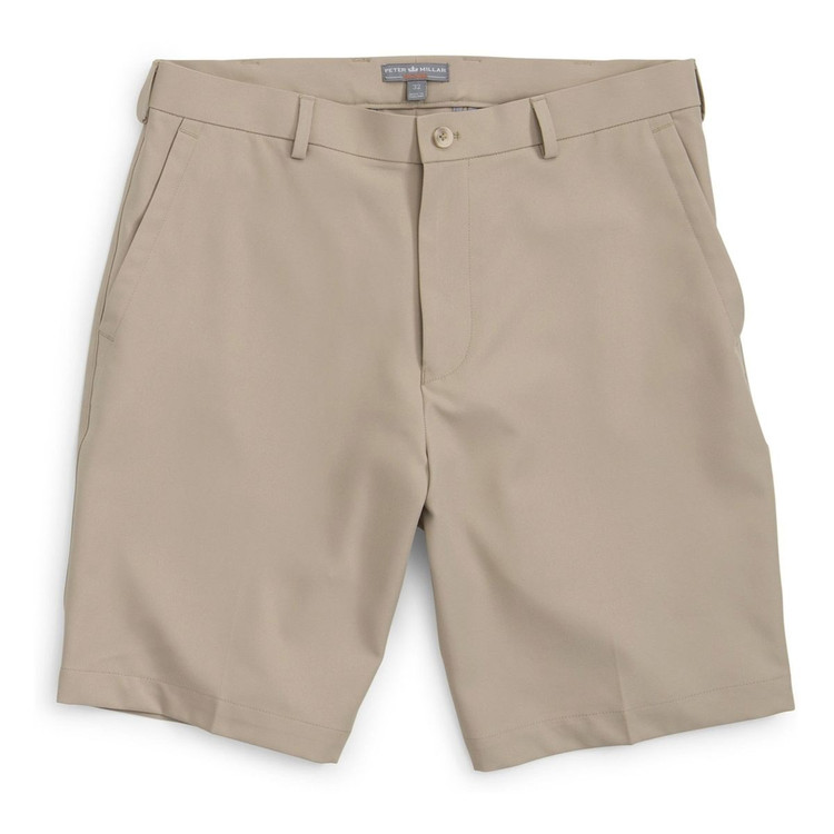 Salem Element 4 Performance Short in Khaki by Peter Millar