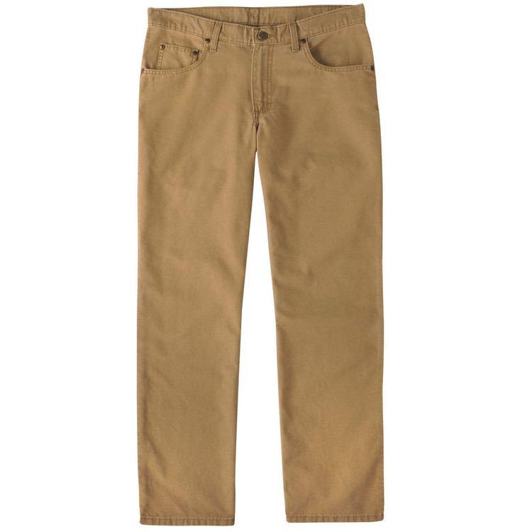 Weathered Canvas Five Pocket Model in British Khaki by Bills Khakis