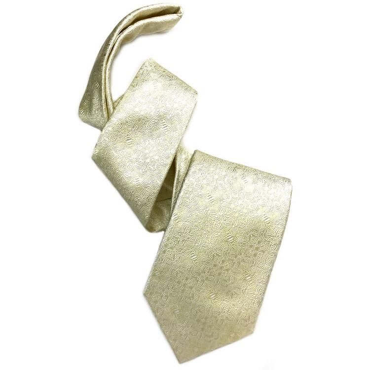 Ivory Medallion 'Robert Talbott Protocol' Hand Sewn Woven Silk Tie by Robert Talbott