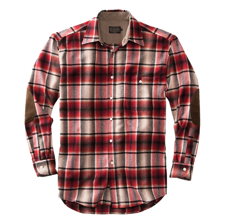Elbow-Patch Trail Shirt in Red and Black Ombre by Pendleton