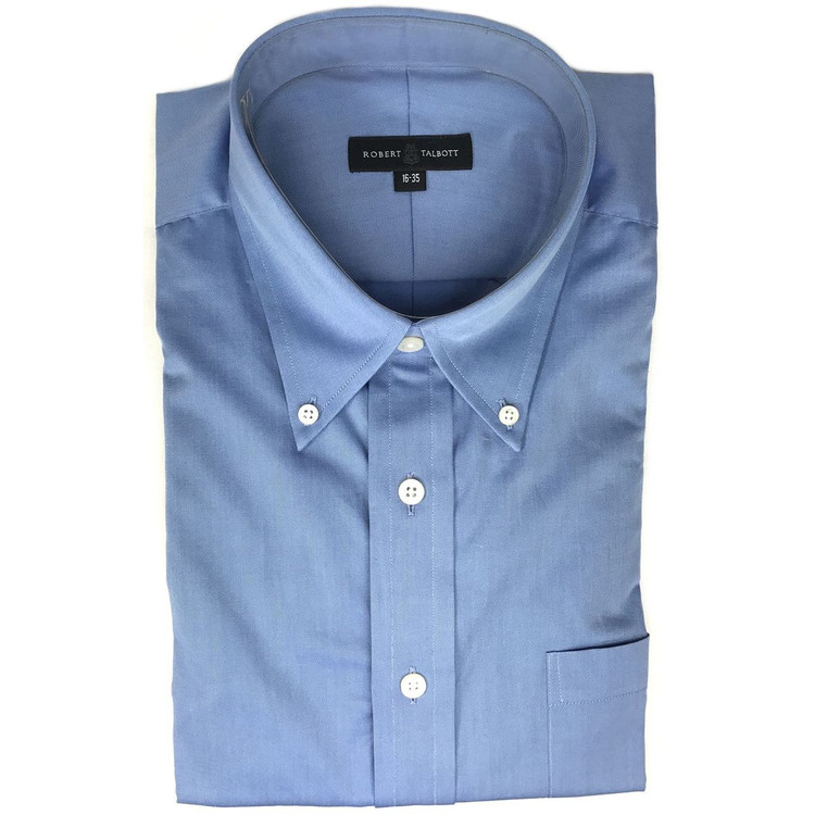French Blue Twill Dress Shirt (Size 16 - 34) by Robert Talbott