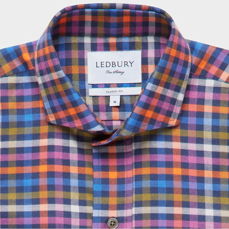 The Archibald Gingham Sport Shirt by Ledbury