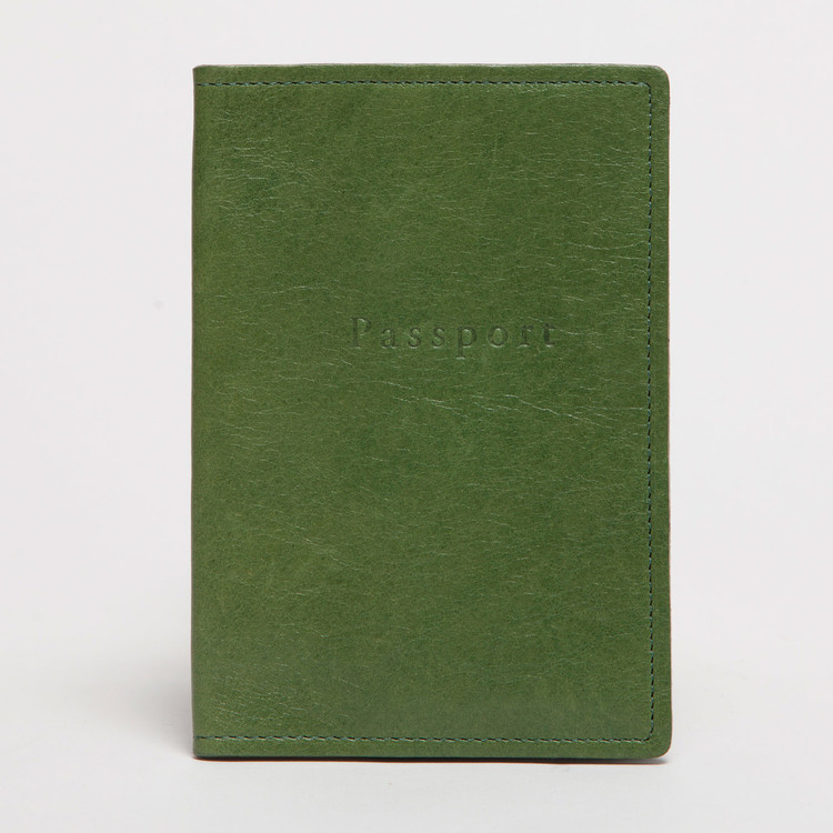 Leather Passport Cover in Sour Apple by Moore & Giles