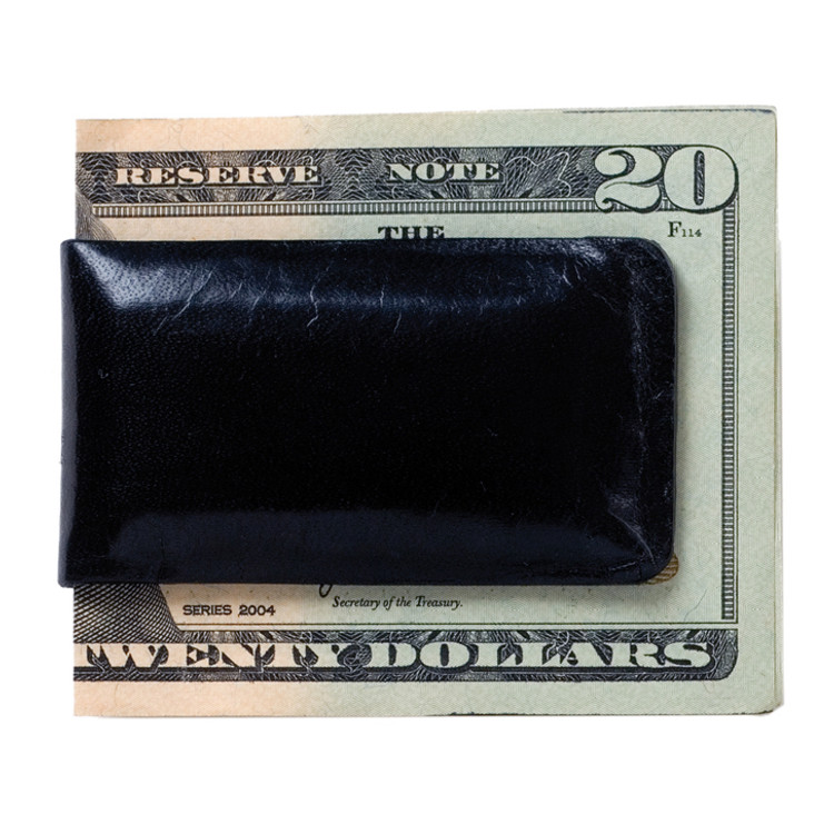 Magnetic Money Clip in Brompton Black by Moore & Giles