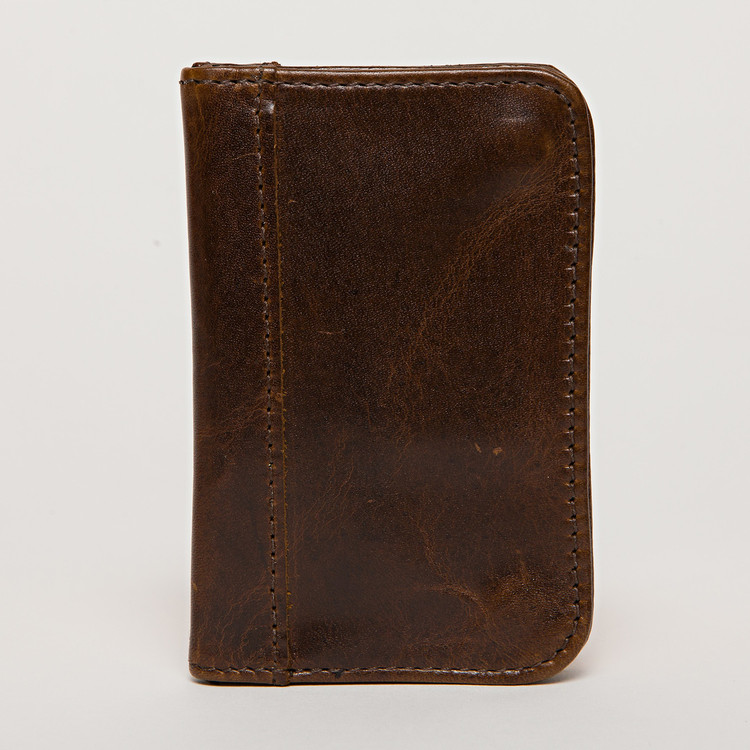 Snap Card Case in Brompton Brown by Moore & Giles