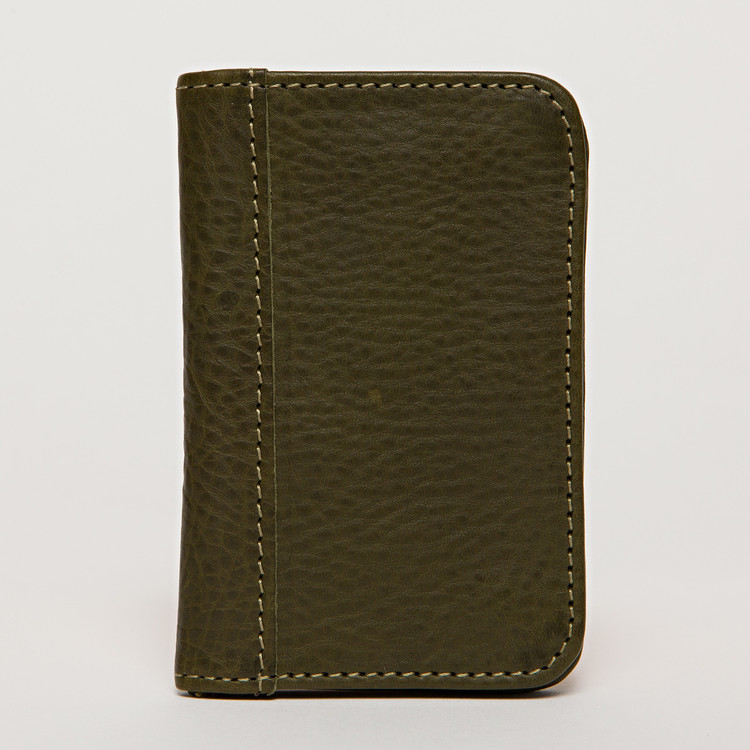 Snap Card Case in Olive by Moore & Giles