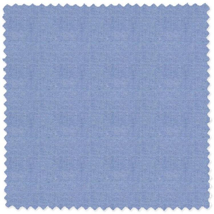 Blue 80-2ply Cotton Pinpoint Oxford Custom Dress Shirt by Skip Gambert